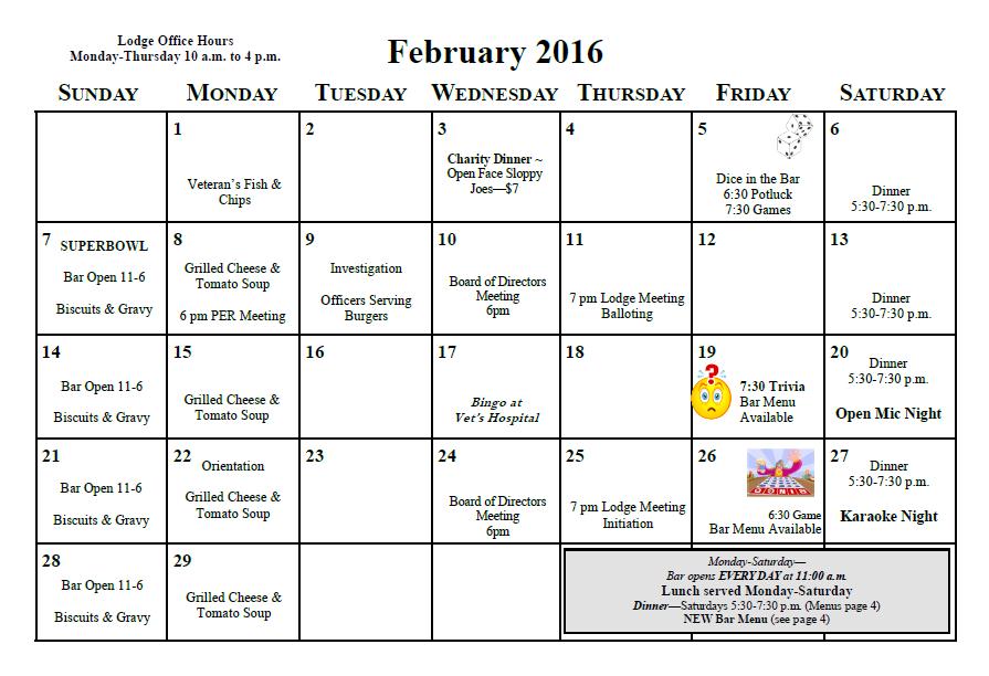 Feburary 2016